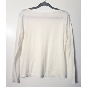 LOFT Tops - LOFT NWOT lace front lightweight tee white